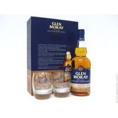 Виски Glen Moray Shardonnay Cask with Glasses (Глен Морай Шардоне Каск) 40% 0.7L